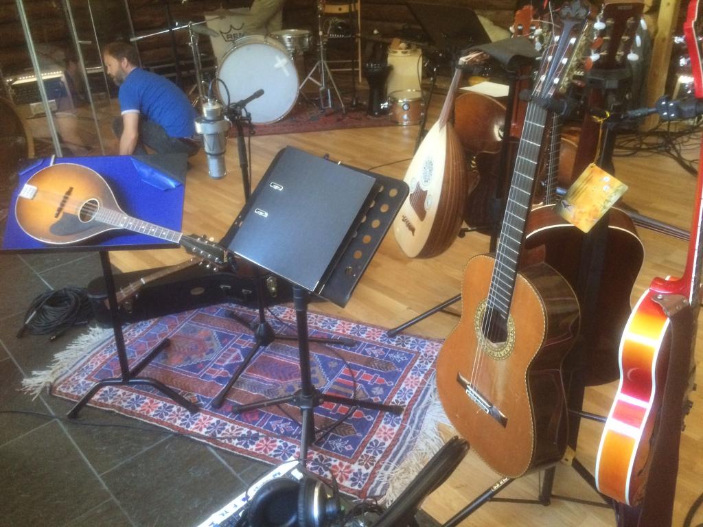 gitarer i studio